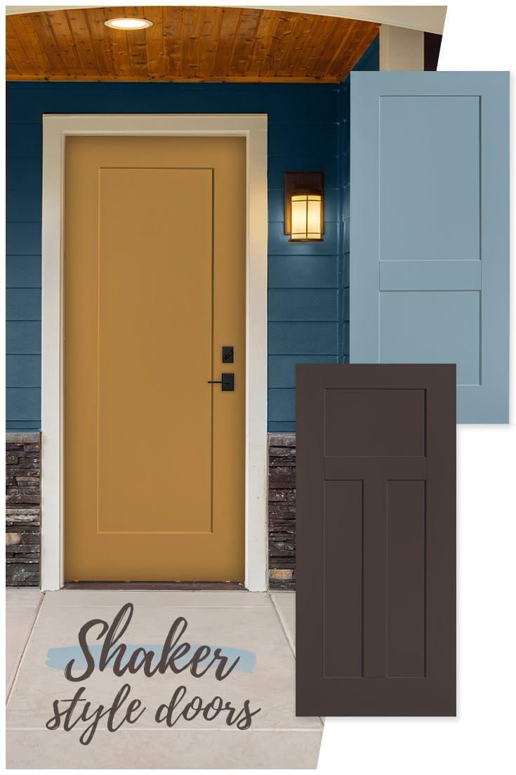 Shaker Style Smooth Steel Exterior Doors Exterior Doors Steel Doors Exterior Shaker Style Doors