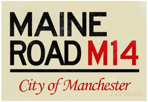 Maine Road M14 Manchester Road Sign Poster Poster