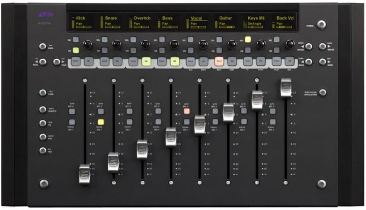Avid artist mix control surface andertons music co in