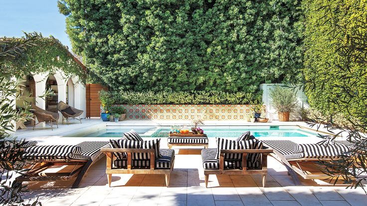 I need these trees for privacy. How to Create the Ultimate Backyard Oasis via @MyDomaine