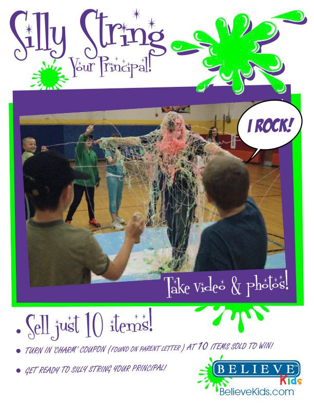 School fundraising ideas. Raise more money when you let top sellers silly string the principal! #Fundraising #PTA #PTO