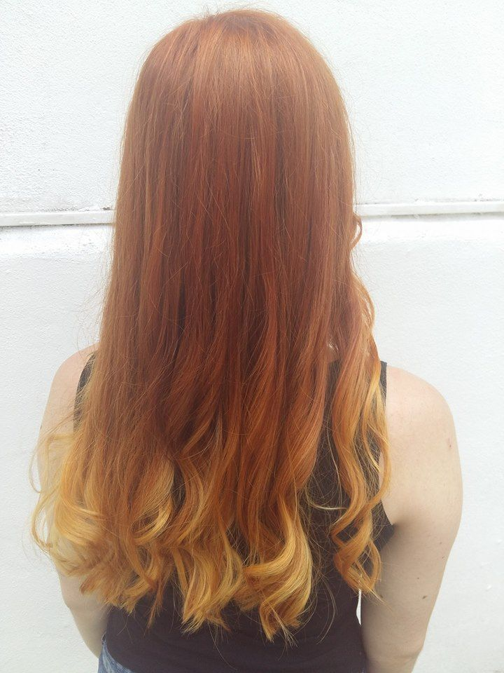 HOT TREND ginger hair and balayage