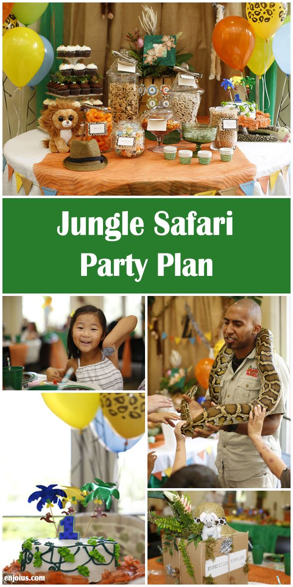 Jungle Safari Downloadable Party Plan