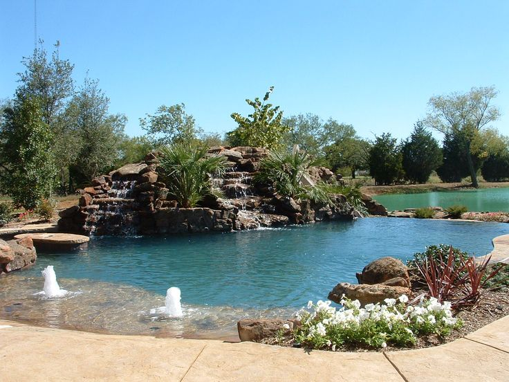 Outdoor natural pool  31 best Natural Swimming Pools images on Pinterest | Natural ...