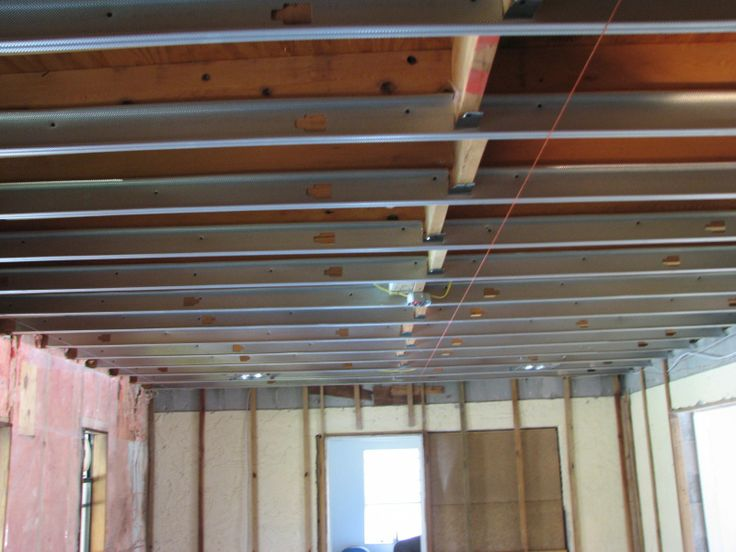 steel stud cieling Leveling A Ceiling. Carpentry