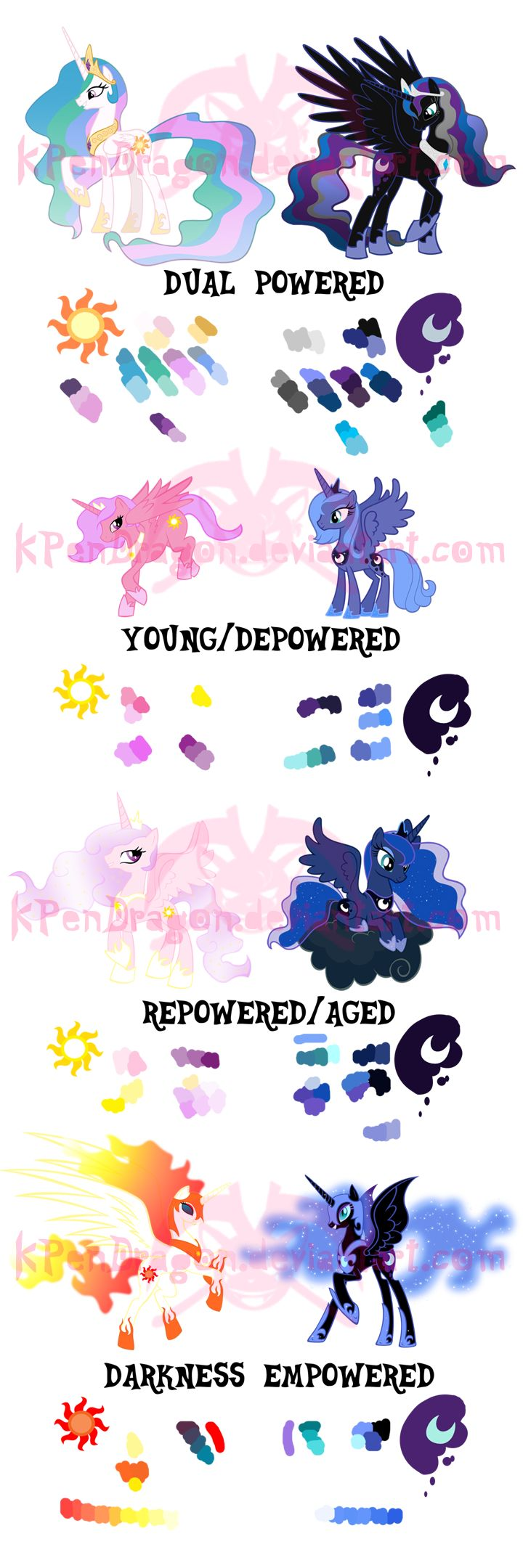 MLP: DUSK and FiM alicorn comparisons by KPenDragon on deviantART