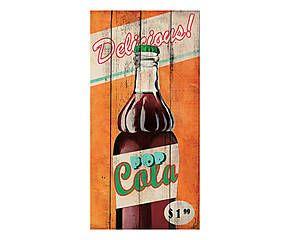 Stampa fine art su canvas con telaio in legno Delicious! - 70x35x4 cm