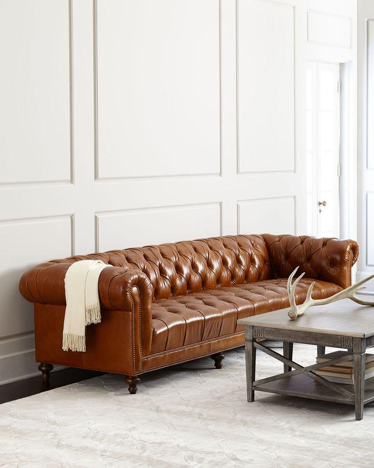 "Davison 69"" Tufted Seat Chesterfield Sofa Products Pinterest Leder, Chesterfield und Sofas"