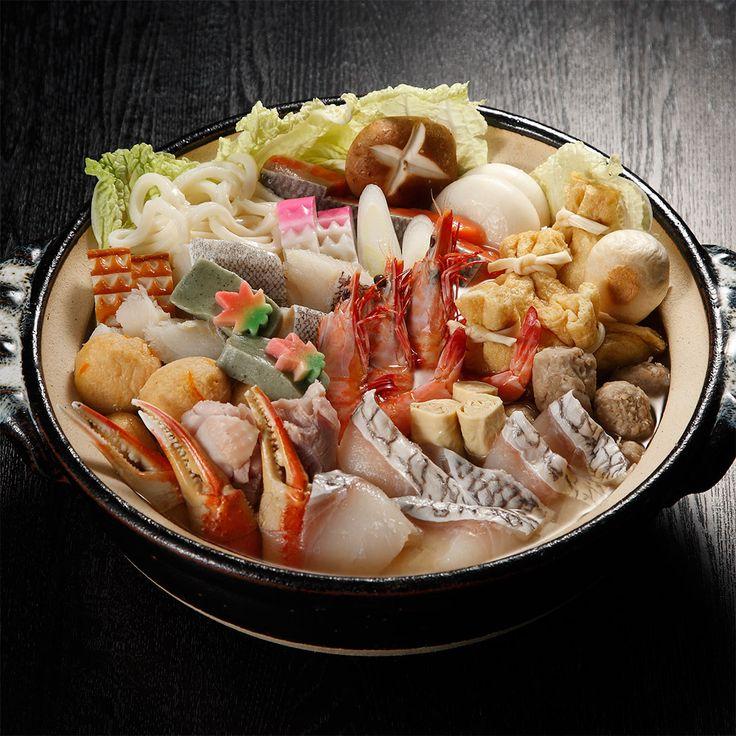 京都〈桂茶屋〉の京風だしの寄せ鍋。【京の寄せ鍋鯛しゃぶ添え】