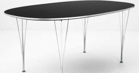 Superellipse table. My father has one in white. Beautiful but it squeaks something terrible for some reason.