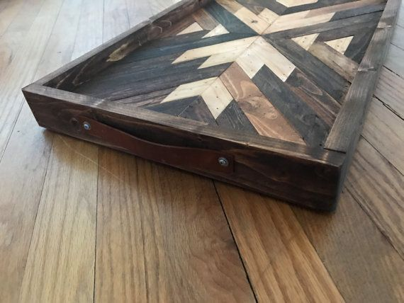 Navajo Aztec Native Boho Southwestern Serving by KnotAndSteelCo #knotandsteelco Home & Living  Furniture  Living Room Furniture  Coffee & End Tables  Navajo  Pendleton  West Elm  Aztec  Mid Century Native American  Log Cabin  Southwestern  BOHO  Serving Tray  Moroccan  Tribal  Geometric