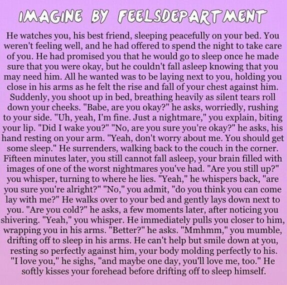 I like imagines like these when you get to pick what guy it is:):):)