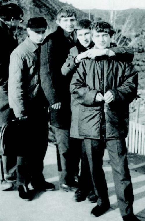 Vladimir Putin and his childhood friends in 1969