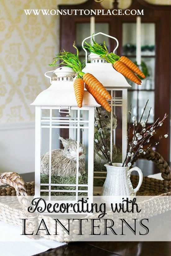 Decorating with lanterns is a fun and easy way to switch things up seasonally. Stick with a neutral set and the sky is the limit!