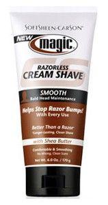 Magic - Crème de Rasage Lisse. Shave Cream Smooth, Magic SoftSheen Carson. Formulé spécifiquement pour obtenir un rasage de près et de longue durée sur les styles de têtes/crânes rasés...