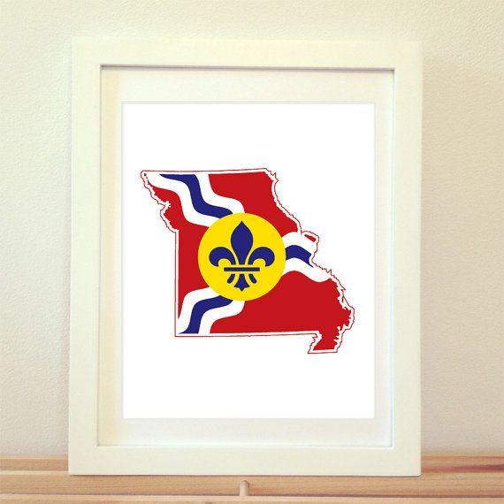Saint Louis Missouri St. Louis Art St. Louis by BentonParkPrints, $12.00