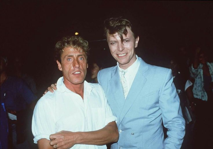 David and Roger Daltrey (Who) - another photo, colour photo
