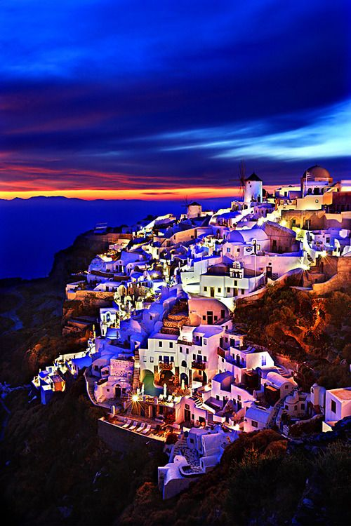 Shining Oia Greece by Cretense