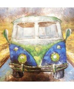 Schilderij Volkswagenbusje T1