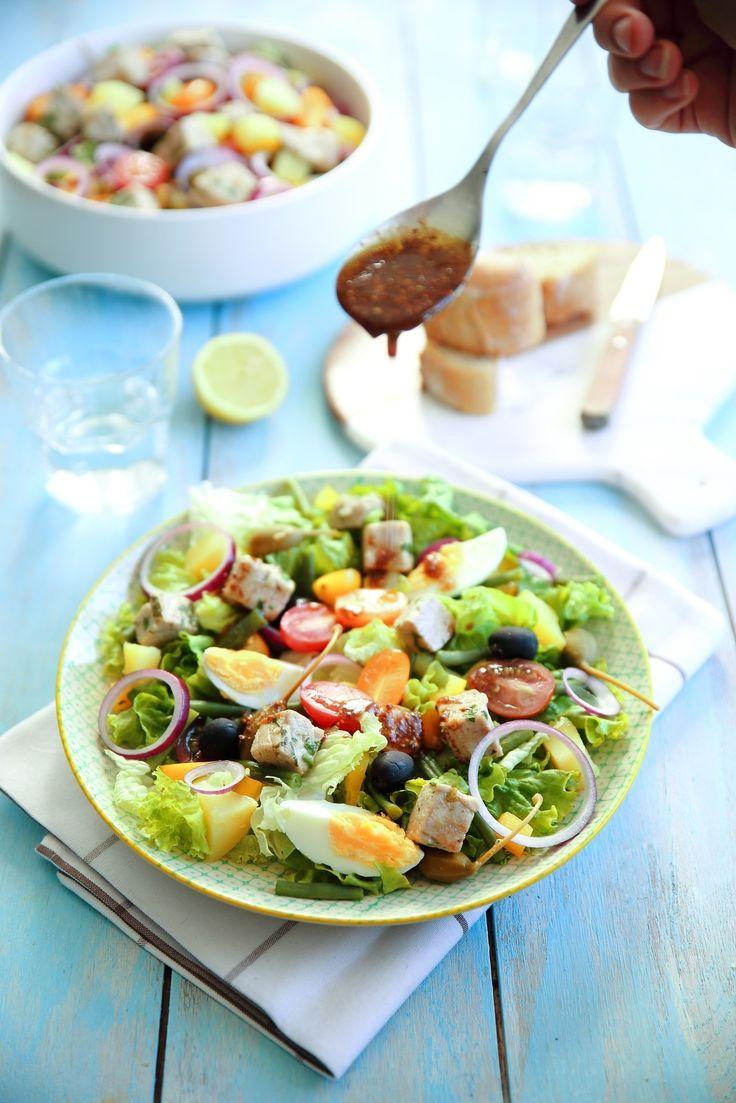 Salade niçoise au thon mariné