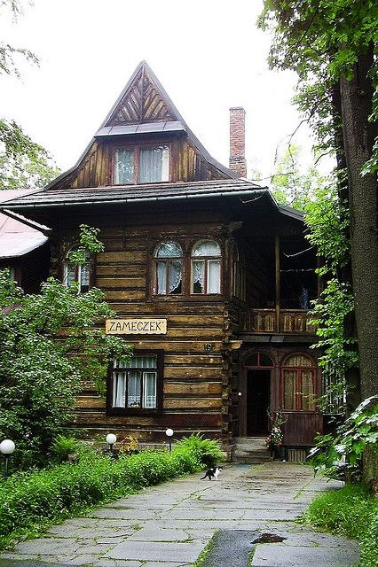 "Zameczek - little castle. Typical Polish ""Goral"" (highlander) home"