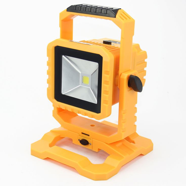 2pcs/lot IP65 LED Flood Light 10W led outdoor flood light rechargeable with detachable battery and dimmable switch free shipping backyard makeover