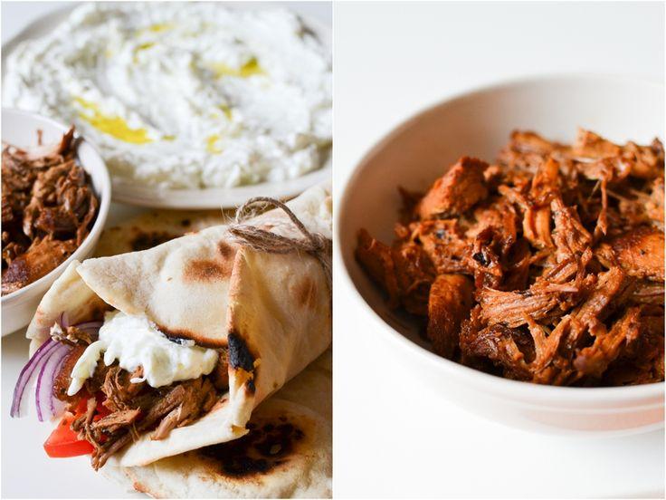 S vášní pro jídlo: Řecká pita s tzatziky a trhaným vepřovým