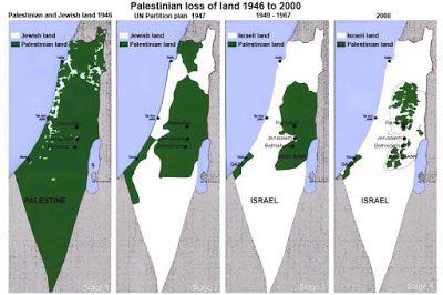 ΑΣΠΡΟ~ΜΑΥΡΟ: Χάρτης Παλαιστίνης - Ισραήλ ~ Map of Palestine - I...