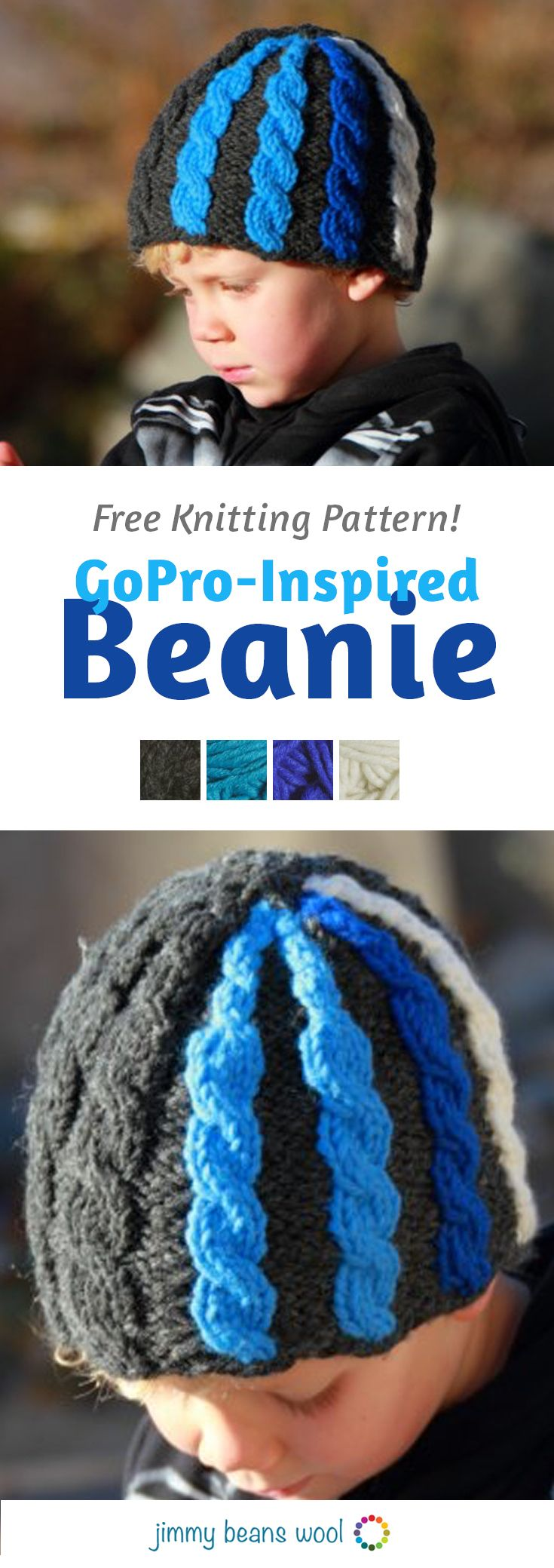 GoPro-Inspired Beanie Free Knitting Pattern | Free Knitting Pattern | Knit Your Own Beanie | Knitting For Beginners | How To Knit For Beginners Step By Step | Beginners Knitting Patterns | How To Knit Step By Step | Jimmy Beans Wool