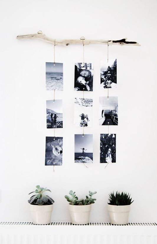 DIY Photo Hanger With Stick