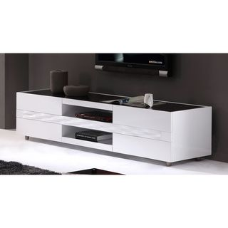 modern tv stand white. firenze white two-drawer modern tv stand | overstock.com living room ideas pinterest tv stands, drawers and tvs