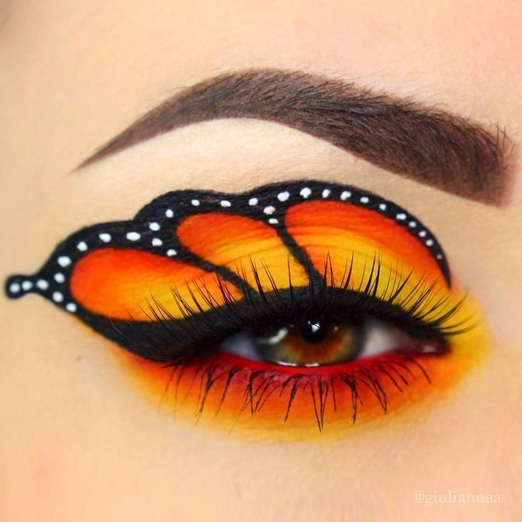 Wow! Very cool butterfly makeup created by @giuliannaa  . . . . #repost PC : @giuliannaa