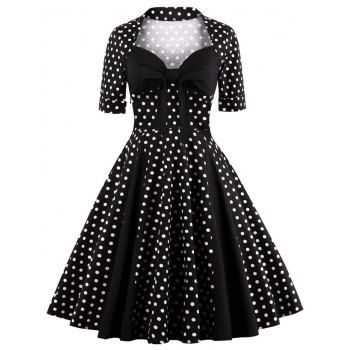 SHARE & Get it FREE   Sweetheart Neck Polka Dot Vintage DressFor Fashion Lovers only:80,000+ Items·FREE SHIPPING Join Dresslily: Get YOUR $50 NOW!