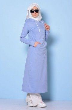 Sefamerve, Kapüşonlu Spor Elbise 0902-04 Buz Mavi