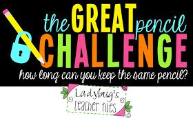 Ladybug's Teacher Files: The Great Pencil Challenge: Posters & Record Sheet