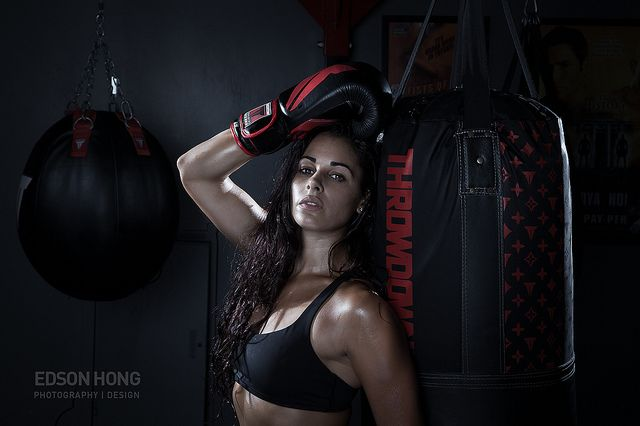 woman boxing models in ring photoshoot | Ashley Guarrasi Fitness Model Throwdown Female Womens Boxing Physique ...