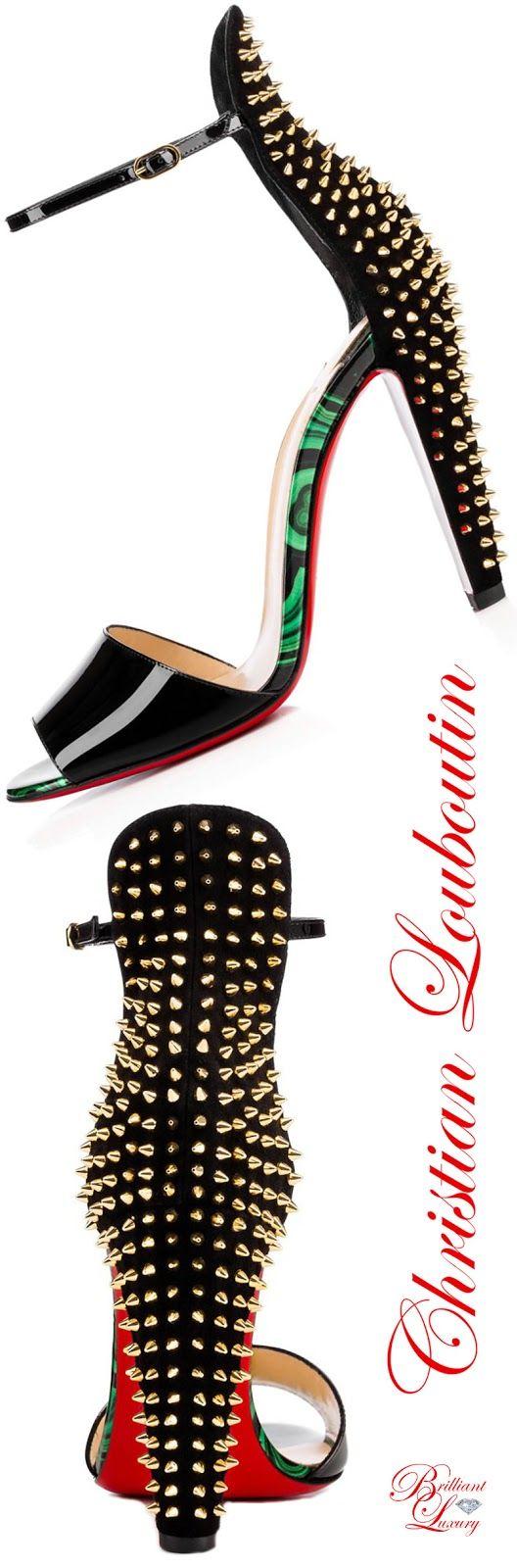 Brilliant Luxury by Emmy DE * Christian Louboutin Tropanita Vernis Sandals