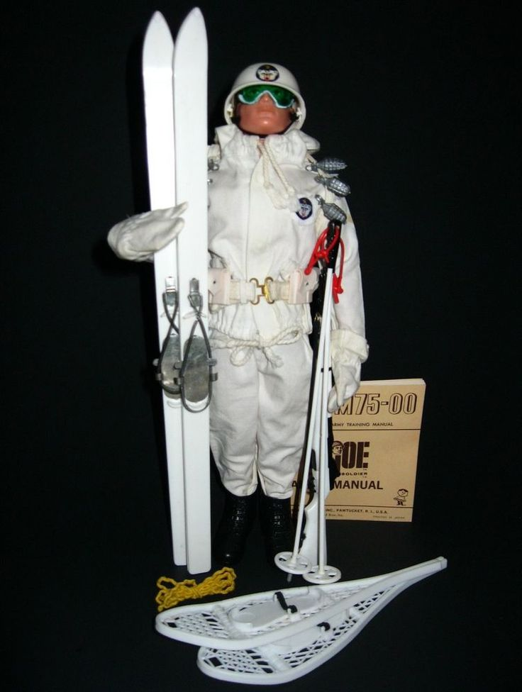 Vintage 1964 GI Joe Hasbro Action Soldier Mountain Troops Ski Patrol w/TM Figure #Hasbro