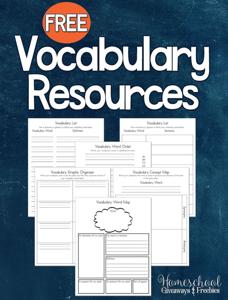 50 best homeschool language arts images on pinterest teaching free vocabulary printable pack fandeluxe Image collections