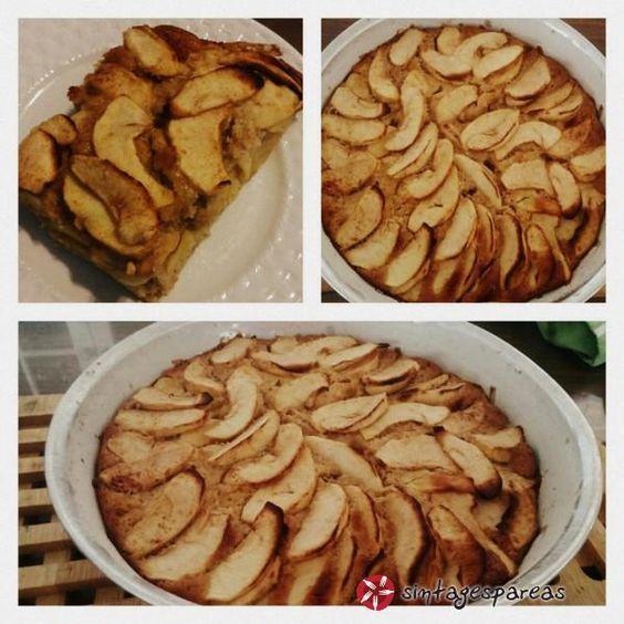 Ιταλικό κέικ με μήλα χωρίς ζάχαρη και χαμηλά λιπαρά #sintagespareas