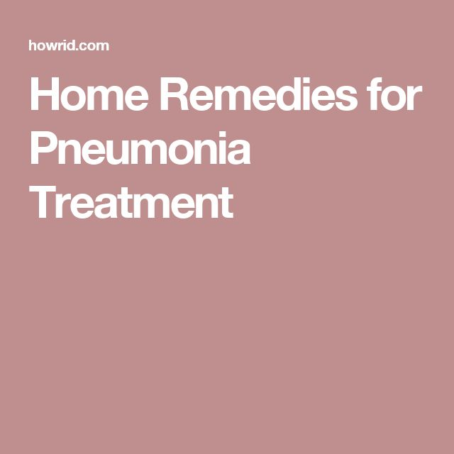 Home Remedies for Pneumonia Treatment