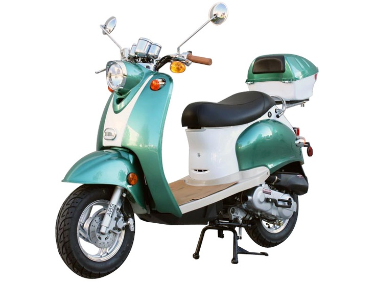 50cc 4 Stroke Euro Moped Gas Motor Scooters 947 Black
