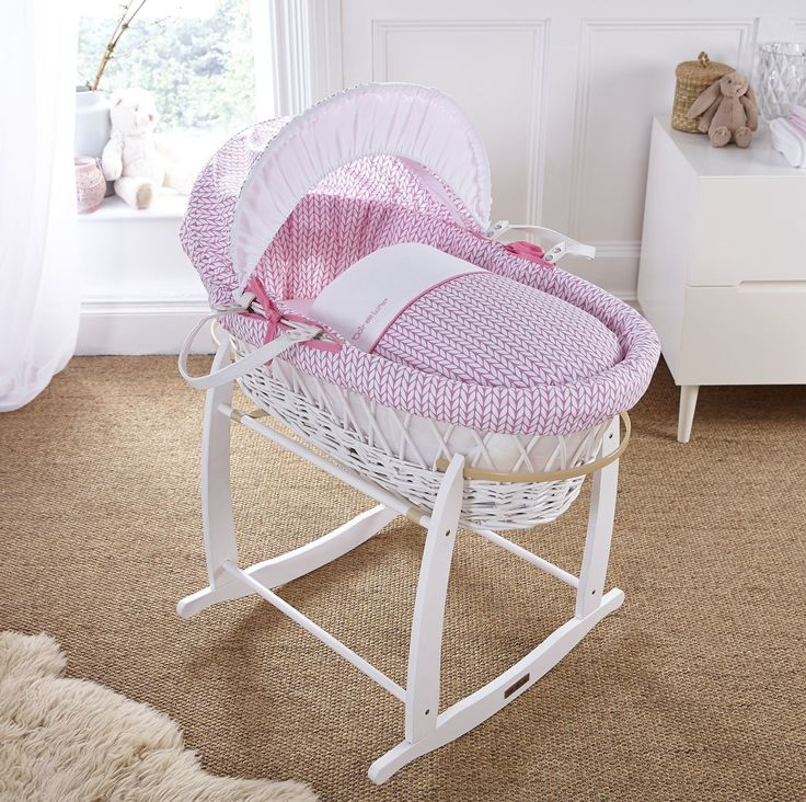 The Clair De Lune White Wicker Moses Basket Coordinates Beautifully With  The Scandinavian Inspired Barley Bébé