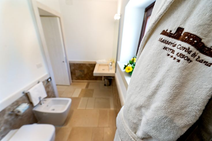 Bathroom Standard room #standardroom #room #standard #masseriacordadilana #hotel#puglia http://masseriacordadilana.it/
