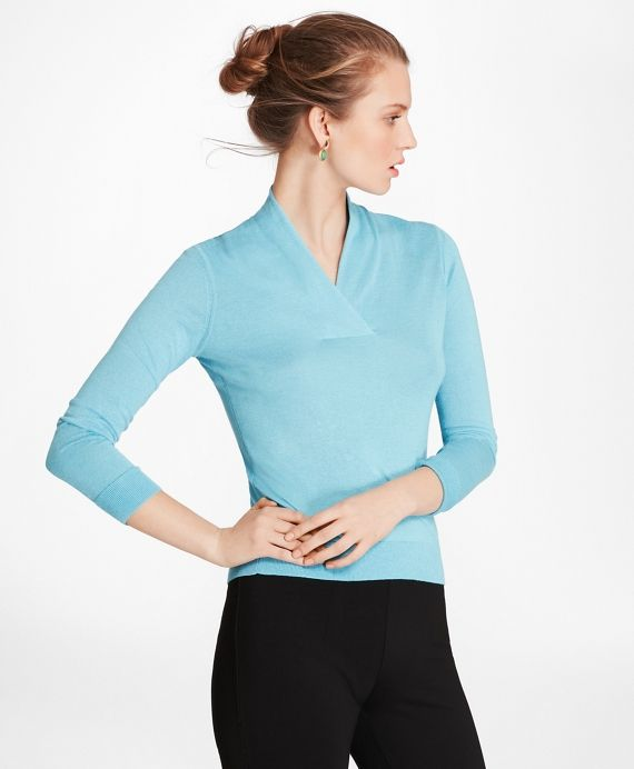 Silk-Cashmere Shawl-Collar Sweater fbe0a5c50