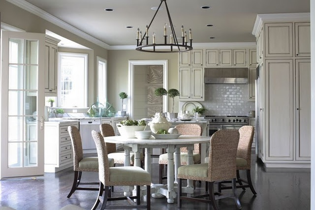 Someday kitchen...: Kitchens, Dining Rooms, Ideas, Eat In Kitchen, Dream, Phoebe Howard, Round Table, Kitchen Design, House