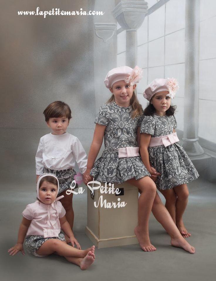 Colección Marita Rial. Cachemir gris y rosa empolvado