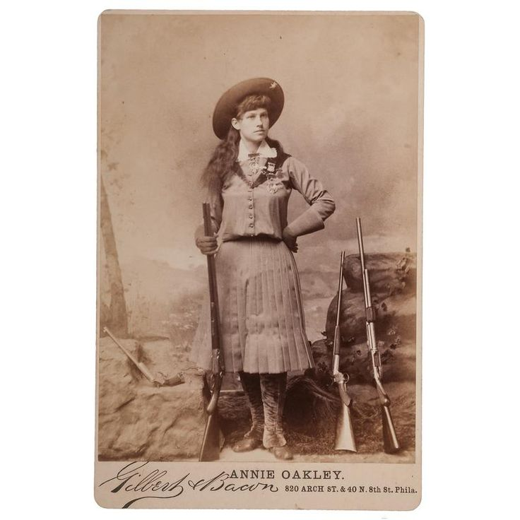 Annie Oakley Cabinet Card by Gilbert & Bacon - Price Estimate: $1000 - $1500