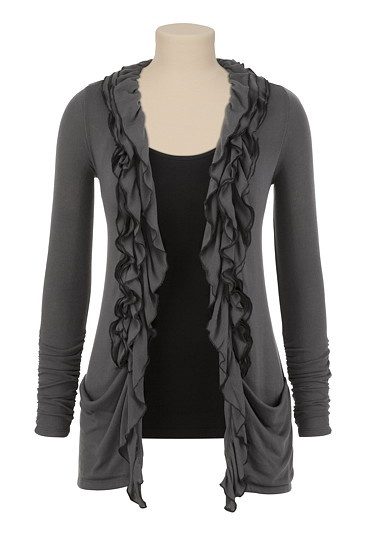 i'm kind of obsessed with cardigans lately and ruffled ones especially!
