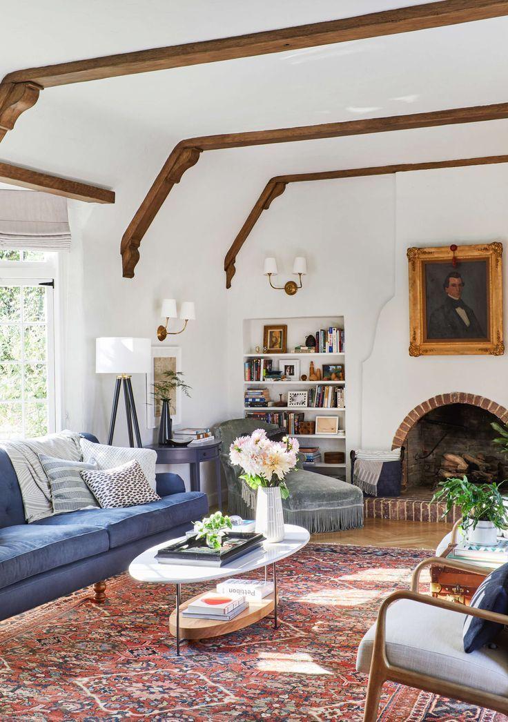 English Tudor Interior Design Ideas: Our Modern English Tudor Living Room + Get The Look